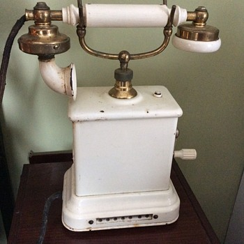 Antique cast iron phone
