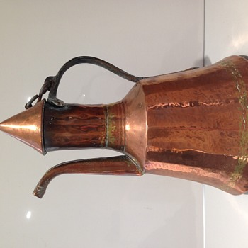 Lovely antique copper coffee pot? Arts & crafts?