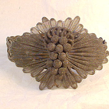 Antique Silesian Wire Work Bracelet