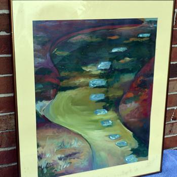 """""""Dusk"""" oil Pastel - Fine Art"""