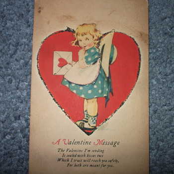 Old Valentine Postcard from unknown year - Postcards
