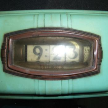 1939 Aqua Pennwood Wall Numechron Model #104