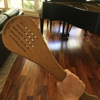 Any idea what this wood paddle is for?