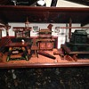 Large Vintage German Wooden Diorama