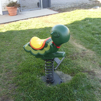 old playground spring ride turtle - Sporting Goods
