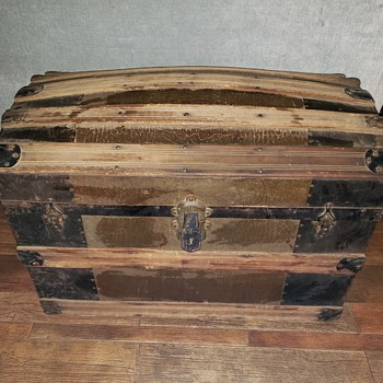 Just curious how old this trunk is and brand? - Furniture