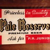 Pale Reserve Beer Reverse-Painted Glass Sign