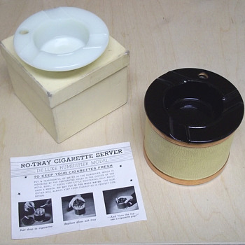 Ro-Tray Cigarette Server ashtray