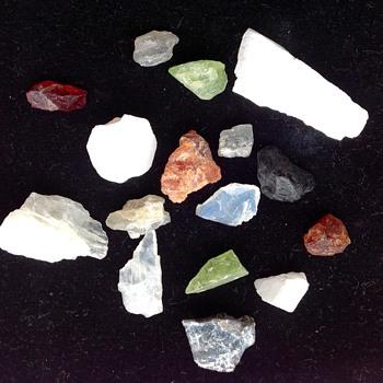 Multi coloured rough Gem Stones - Gemstones