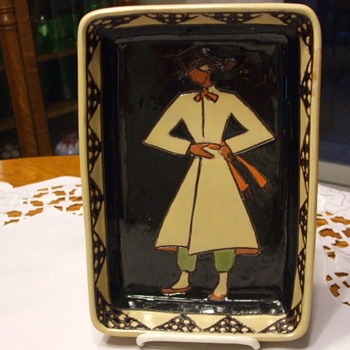 Rare & Unusual Art Deco QUEBEC ART POTTERY TRAY - Pottery