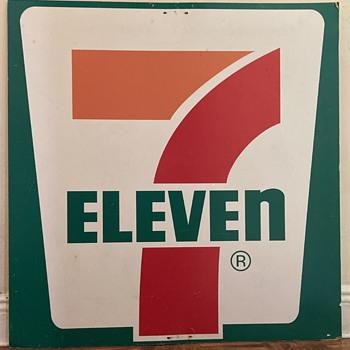 Aluminum 7 Eleven sign - Advertising