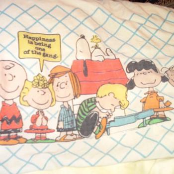 Peanuts pillowcase and sheets - Advertising