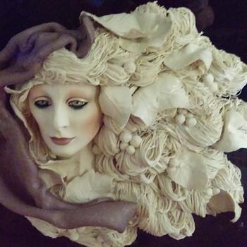 Art Nouveau lady sculpture  - Fine Art