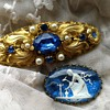 Old costume jewelry brooches