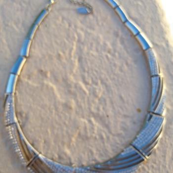 Silverstone choker necklace - Costume Jewelry