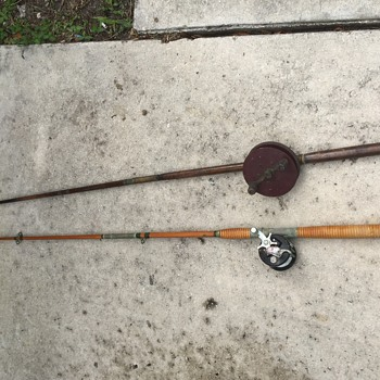 Old rod and reel