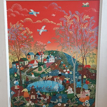 Croatian Naive Painting... signed ? - Fine Art