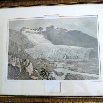 Glacier Du Rhone 1859 and today - Fine Art