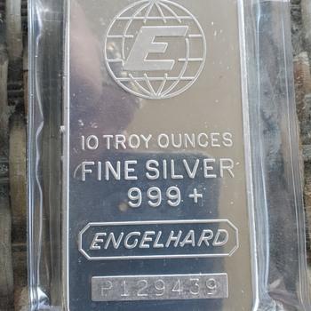 Scarce 10oz Engelhard Tall E, P series - Gold