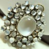 Antique Moonstone Cluster Brooch/Pendant