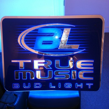 True Music Bud Light Sign - Breweriana