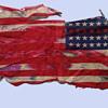 Original 1960s Chicago Area Destroyed Protest Flag