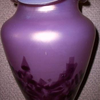 KRALIK  LAVENDER VASE - Art Glass