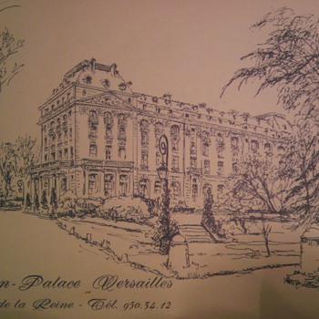 Trianon- palace Versailles 1970s menu