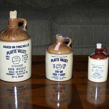 Platte Valley Whiskey Jugs