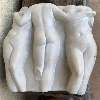 Very Heavy Outdoor Wall Sculpture - Three Muses - Fine Art
