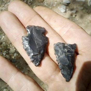 North Carolina Arrowheads  from Bethania NC  - Native American