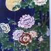Art Tile Mural Of Peonies With Moon
