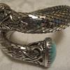 Mesh Silver Tone Bracelet w/Stones