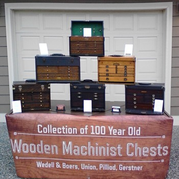 Old Wooden Machinist Tool Chests Collection - Tools and Hardware