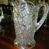 Press/Cut Glass Pitcher