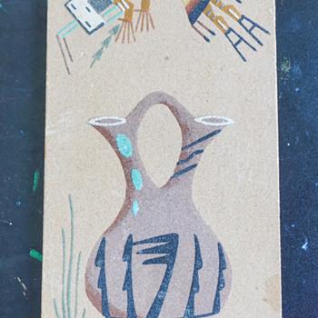 Rainbow Yei Navajo Sand Art