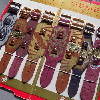 Vintage 1960s Gemex Psychedelic Watch Band Store Display - Wristwatches
