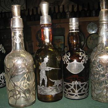 Silver overlay  - Bottles