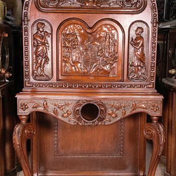 Cathedral Radio Console Hand-Carved Cabinet (Only)- Scott McMurdo Silver - Radios