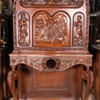 Cathedral Radio Console Hand-Carved Cabinet (Only)- Scott McMurdo Silver