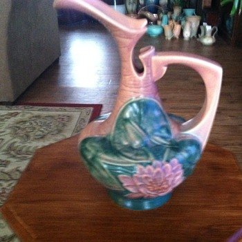 Roseville Water Lily Ewer - Pottery