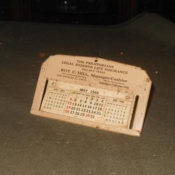 Small Desk Calendar From 1946 - Office