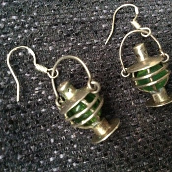 Silver and glass lantern earrings - Fine Jewelry