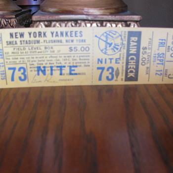Yankee unused stadium ticket - Baseball