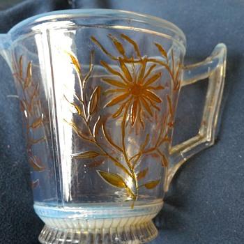 vaseline  glass jug - Glassware