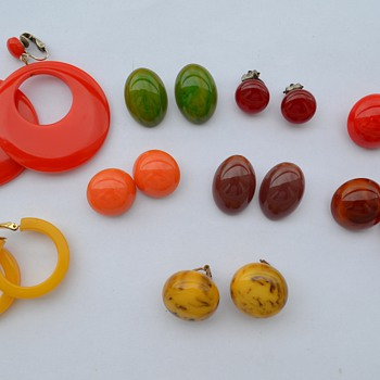 Bakelite Earrings and More... - Art Deco