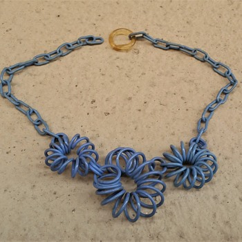 1930's celluloid choker - Costume Jewelry