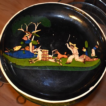Very large tazza - footed plate - Tlalquepaque, Mexico - Pottery