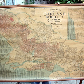 Thomas' Brothers Map of Oakland, Berkeley, Alameda, San Leandro, Piedmont, Emeryville, Albany and  Hayward, - Paper