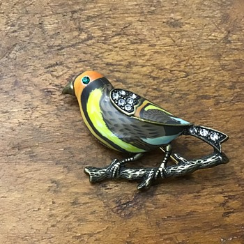 Pretty enamel bird
